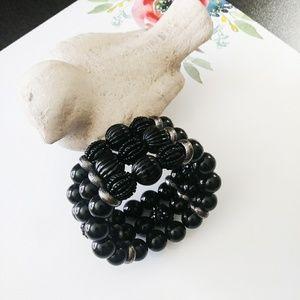 Jewelry - Black Bead Stretch Bracelet